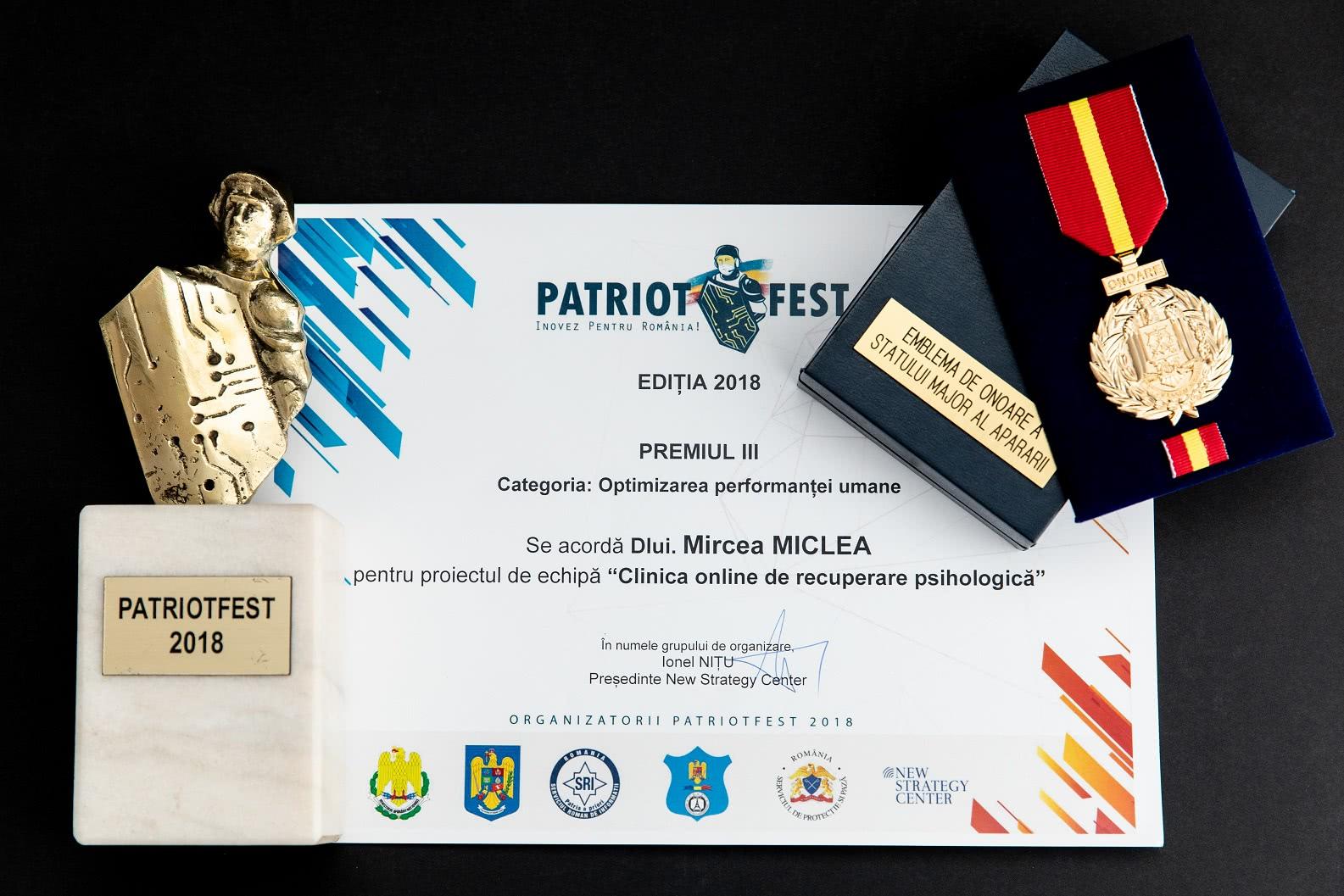 COGNITROM – premiat pentru inovare la PatriotFest 2018